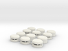 Set of 12 Oval Bunker / Pill Box 3d printed