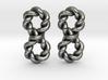 Twistfinity Earrings 3d printed