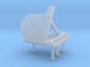N Scale Grand Piano (Open) 3d printed