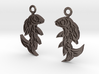 Shard Fish Earrings (inverted) 3d printed