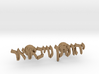 Hebrew Name Cufflinks 3d printed
