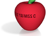 apple miss c fixed hollowness and escape letters 3d printed