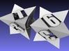 Octetric d6 dice pair 3d printed Meshlab Render