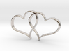 Double Hearts Interlocking Freehand Pendant Charm 3d printed
