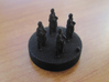 Catan Pieces Knights - Black 3d printed Knight #1 token