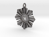 Silver Hand Medallion 3d printed