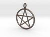 Simple pentagram necklace 3d printed
