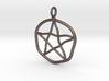 Warped pentagram necklace 3d printed