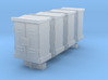 N Scale 4 Relay Cabinets Low 3d printed