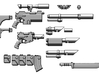 1:6 Scale Imperial Sci-Fi Rifle Variants Kit 3d printed