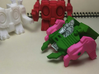 """Another Dimensional bots """"KWAGGA"""" (All parts are i 3d printed 1/60 scale figure can ride (for example """"Diaclone"""")."""