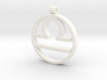 Libra Zodiac Sign Pendant 3d printed
