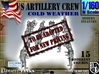 1-160 US Artillery Crew Cold Weather 3d printed