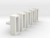 Betonblumenkübel rechteckig DDR 5er Set 1:120 3d printed