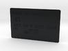 Bank card 3d printed