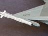 V3E A-Darter Air-to-Air Missile 3d printed 1/72 Scale A-Darter mounted on Saab Gripen