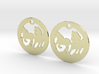 FREEDOM (precious metal earrings) 3d printed