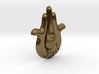 Hamsa Necklace Pendant - Big 3d printed Hamesh, Hand of Miriam Big