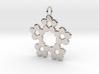 Circles Snowflake Pendant Charm 3d printed