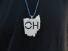 Ohio State Pendant 3d printed *twine not included