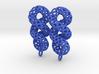 Cruller Plastic Earrings 3d printed