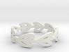Simple Laurel Ring 3d printed