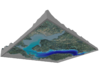 """Lake Pend Oreille Map: 8.5""""x11"""" 3d printed"""