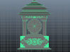 Korea Traditional Clock 3d printed Front View
