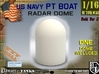 1-16 Radar DOME For PT BOAT 3d printed