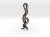 C. elegans Nematode Worm Pendant  3d printed