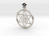 The Saturnus (precious metal earring/pendant) 3d printed