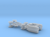 WW I 6in 26cwt Howitzer w. FWD-Truck 1/144 3d printed