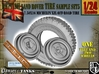 1-24 Land Rover 750x16 Tire And Wheels Sample Set5 3d printed
