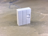 OO Gauge (1/76) Click and Collect Locker Small 3d printed After one coat of primer