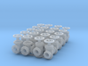 """20 Valves (various designs) for 2.4mm (3/32"""") Rod 3d printed"""