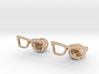 Hipster Glasses Cufflinks Origin 3d printed