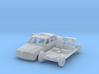 Mercedes-Benz W123 Taxi w/ open door (TT 1:120) 3d printed
