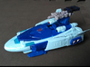 """MicroSlinger """"Uproar"""" 3d printed Uproar weapon mode, mounted on a larger vehicle."""