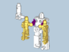 """MicroSlinger """"Uproar"""" 3d printed Assembly step 2: Attach arms."""