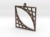 Oblique Grid Pendant 3d printed
