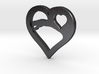The Eager Heart (steel pendant) 3d printed
