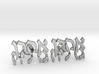 "Hebrew Name Cufflinks - ""Ahron Gedalia"" 3d printed"