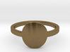 Small Circle Midi Ring 3d printed