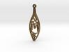 Personalised Voronoi Leaf Necklace (M) 3d printed Personalised Voronoi Leaf Necklace (M)