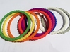 Ingranaggi Bangle - 2mm Thick 3d printed ggi Bangles - MulIngranaggi Bangles - Multiple colours shown for Photo purposes