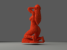 SQULP® Lego Sculpture Girl in Spring 3d printed