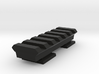 Flash Hot Shoe Picatinny Rail (6 Slots) 3d printed