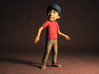 """Peter from Peter and the Wolf in Hollywood, 6.5"""" 3d printed"""