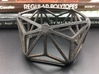 Catalan Bracelet - Triakis Icosahedron 3d printed Photo of finished product in Matte Black Steel