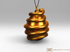 Orphic egg Pendant 4.5cm (Raw + Precious Metals) 3d printed Pendant cord not included